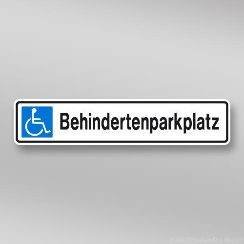 Parkplatzschild 52x11cm Behindertenparkplatz P01.007