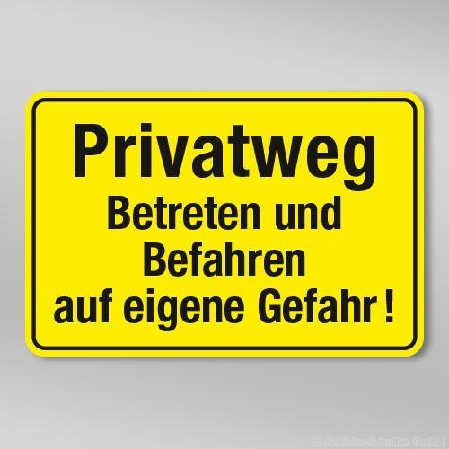 Privatweg Betreten und Befahren auf eigene ... GB311