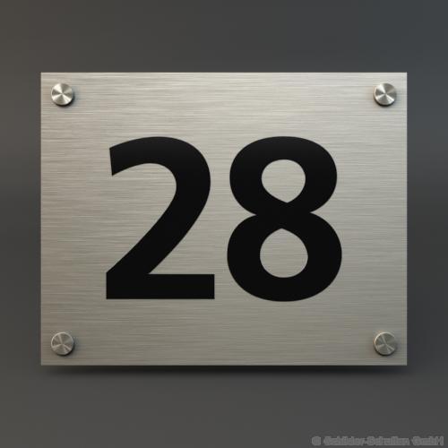 Hausnummernschild 25x20 cm Aluminium HNR.100