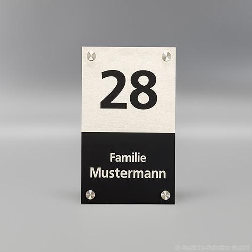 Hausnummernschild 15x25 cm Aluminium HNR.351