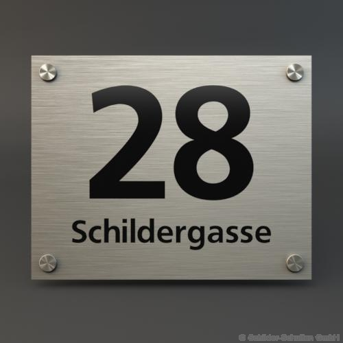 Hausnummernschild 25x20 cm Aluminium HNR.110