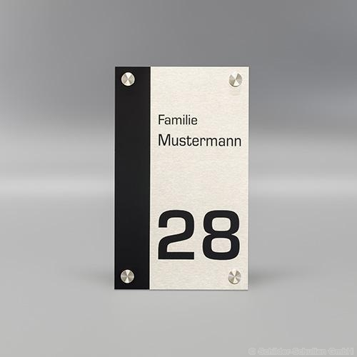 Hausnummernschild 15x25 cm Aluminium HNR.355