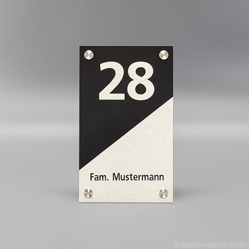 Hausnummernschild 15x25 cm Aluminium HNR.353