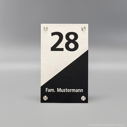 Hausnummernschild 15x25 cm Aluminium HNR.352