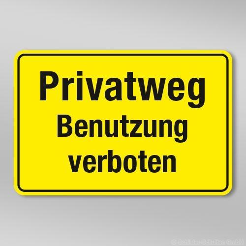 Privatweg Benutzung verboten GB310