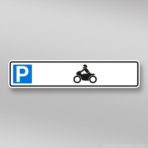 Parkplatzschilder 52x11cm Motorrad
