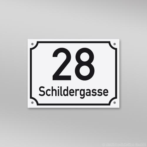 Hausnummernschild 20x15 cm S60.232