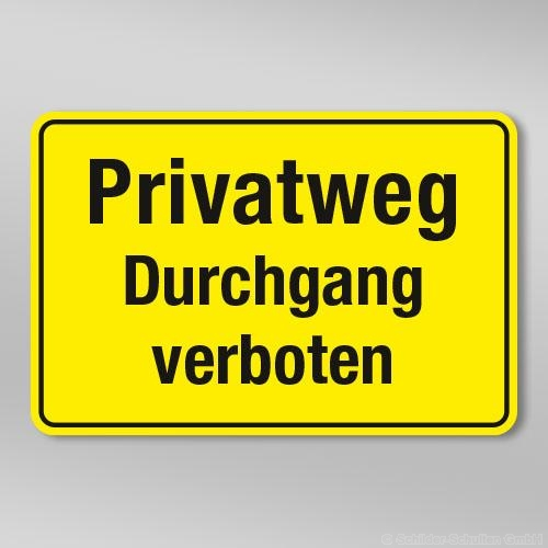 Privatweg Durchgang verboten GB308
