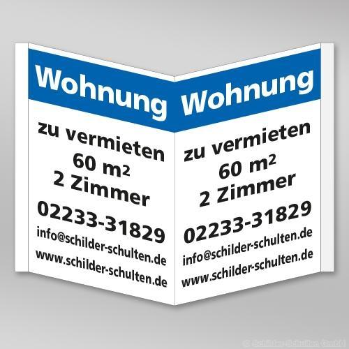 Nasenschild - Faltschild 1000x700mm IMM.001.3