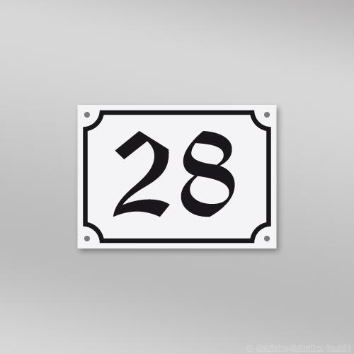 Hausnummernschild 18x13 cm S60.226