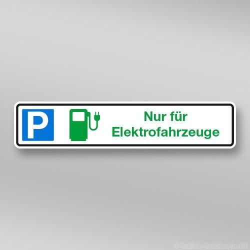 Parkplatzschild Elektrofahrzeuge 52x11cm Privat P01.009