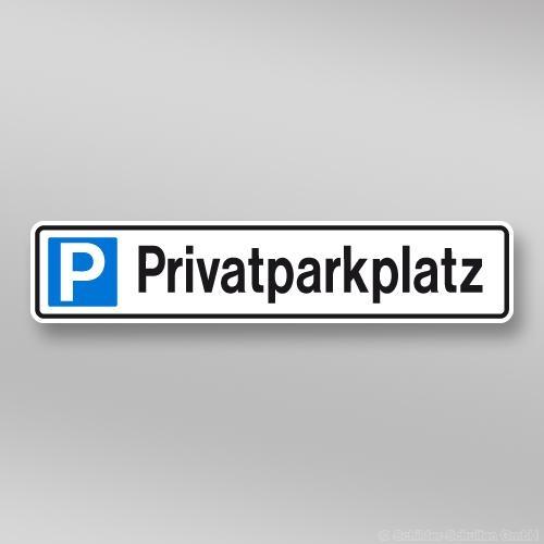 Parkplatzschild 52x11cm Privatparkplatz P01.001