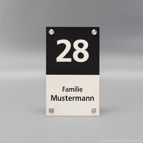 Hausnummernschild 15x25 cm Aluminium HNR.350
