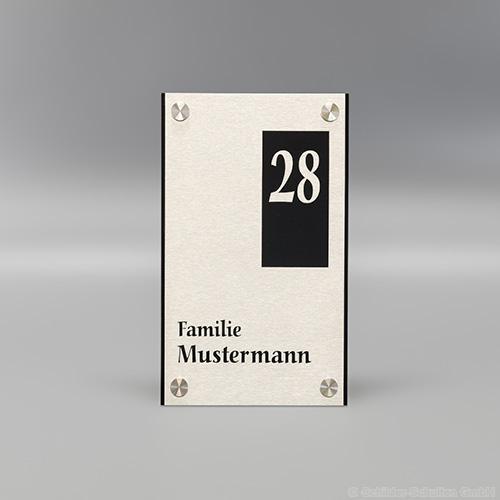 Hausnummernschild 15x25 cm Aluminium HNR.354