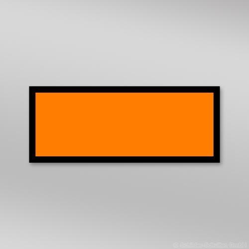 UN-Gefahrentafel Folie 300x120mm ohne Nummer