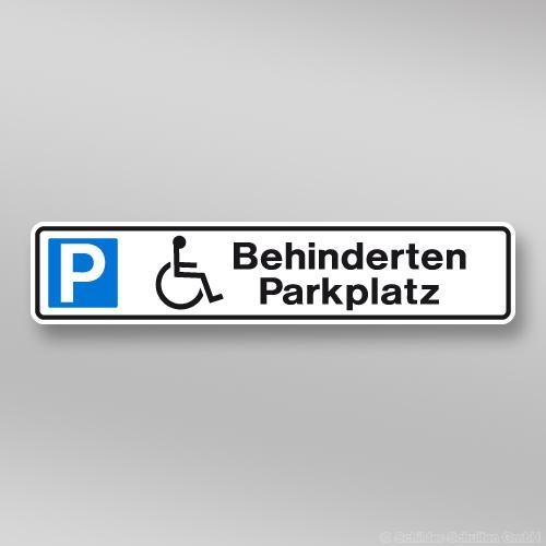Parkplatzschilder 52x11cm Behinderten Parkplatz mit Rollstuhlsymbol