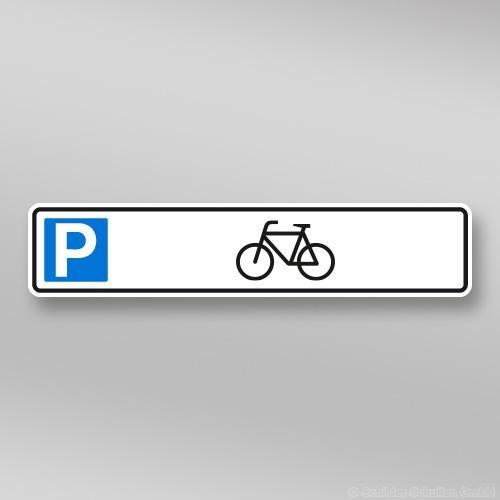 Parkplatzschild Fahrrad 52x11cm P01.010