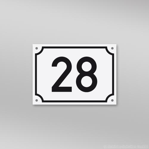 Hausnummernschild 18x13 cm S60.230