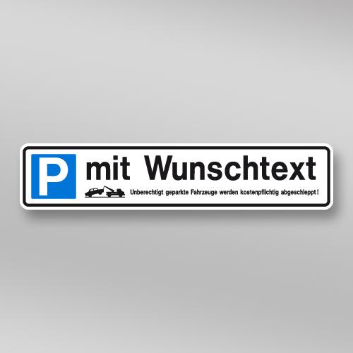 parkplatzschild 52x11cm mit wunschtext schilder schulten store. Black Bedroom Furniture Sets. Home Design Ideas