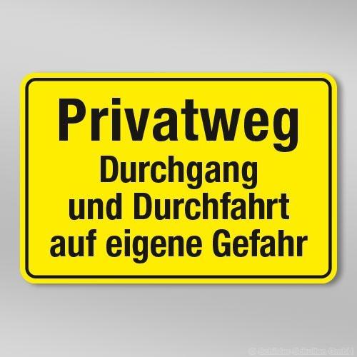 Privatweg Durchgang und Durchfahrt auf eigene Gefahr GB309