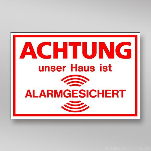Alarmaufkleber AL.255