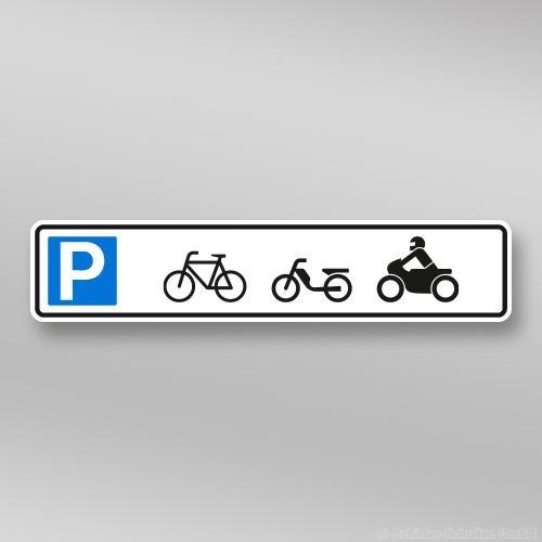 Parkplatzschilder 52x11cm Zweirad
