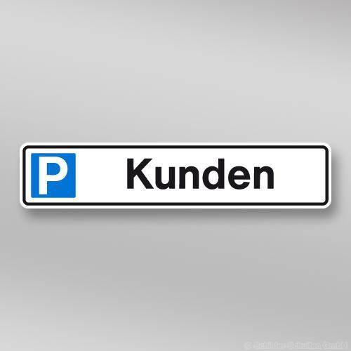 Parkplatzschild 52x11cm Kunden P01.005